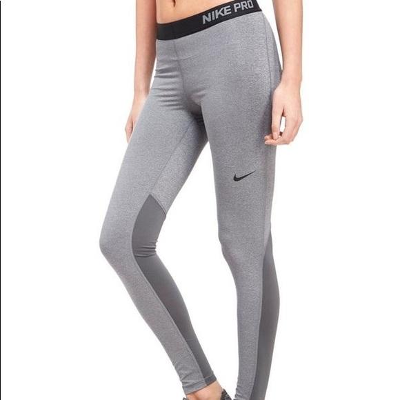 pretty cool hot products cozy fresh Nike Pro grey leggings